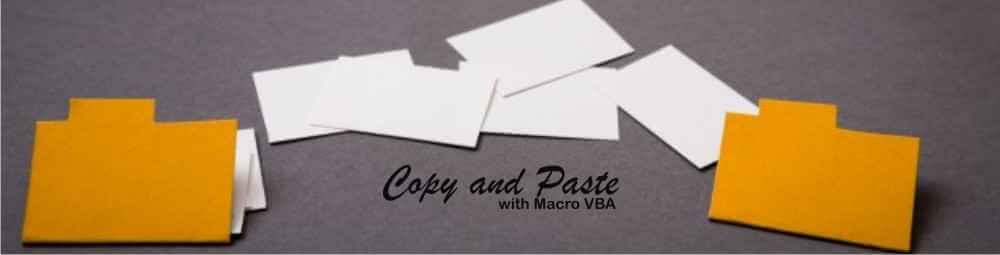 Copy dan paste dalam Macro VBA