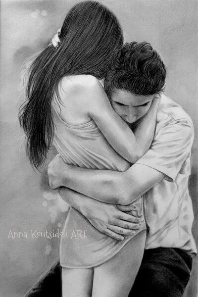 20 Mind-Blowing Pencil Drawings By Greek Artist That Illustrate The Beauty Of Love - I stayed here so you won't miss anything