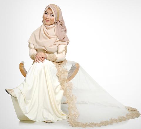 model baju nikah muslimah
