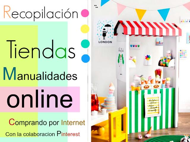 tiendas, manualidades, online, Internet, recopilación, compras, materiales