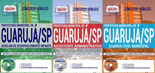 apostila-prefeitura-de-guaruja-concurso-publico-2018-cargo-assistente-administrativo