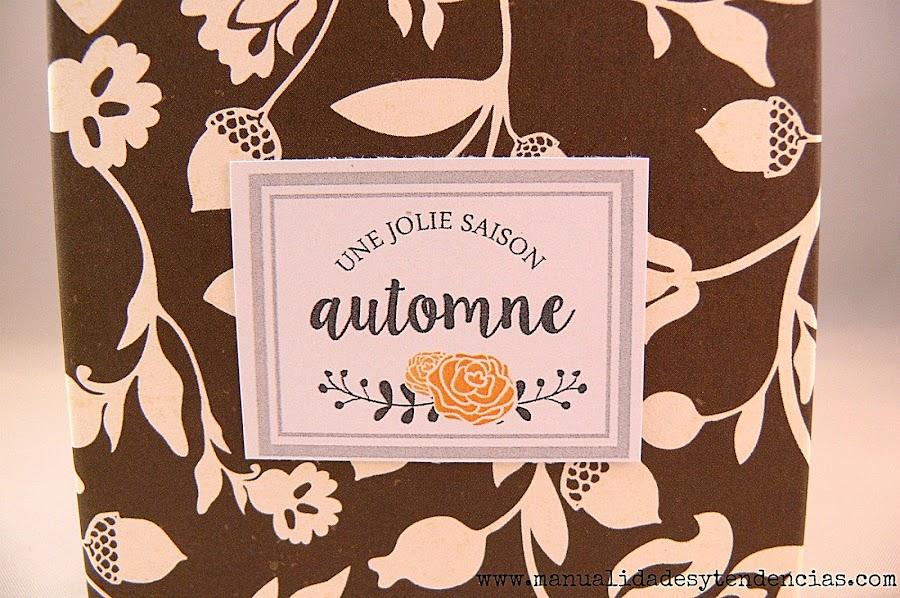 Etiqueta otoño para envoltorio de regalo