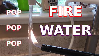 FIRE EXPERIMENT: Why Kangen H2 Water Makes Popping Sound, Tap Water Does Not - Tim McGaffin II