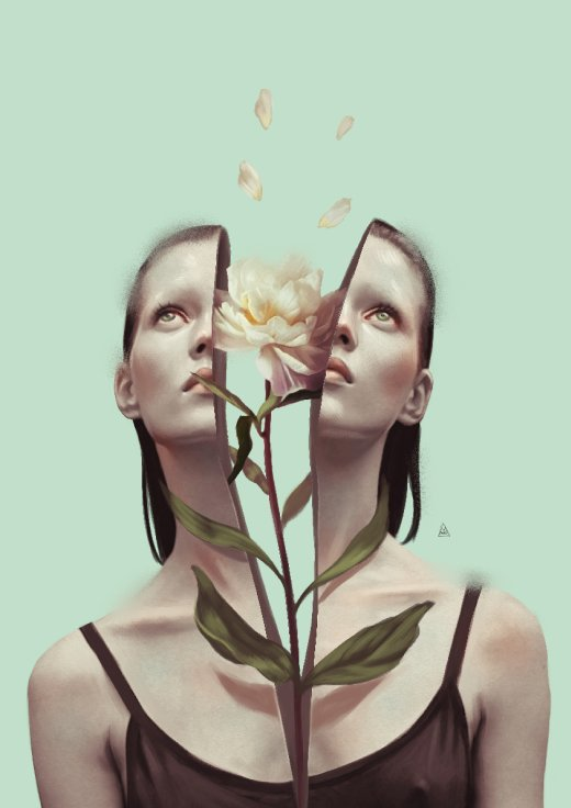 Aykut Aydoğdu ilustrações mulheres surreais realistas feminino simbolismos