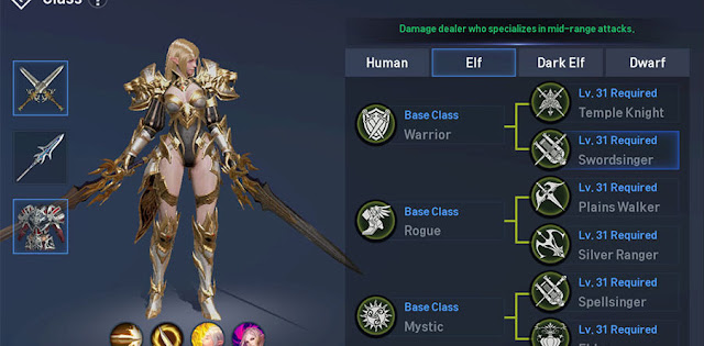 Class Job Elf Swordsinger di Lineage 2 Revolution Indonesia