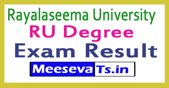 Rayalaseema University RU Degree Exam Results