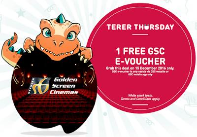 My U Mobile Reward Freebie GSC Movie Ticket E-Voucher