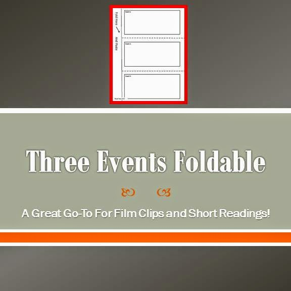 Three Events Foldable