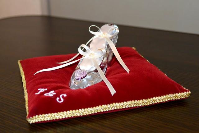 ガラスの靴 リングピロー 台座