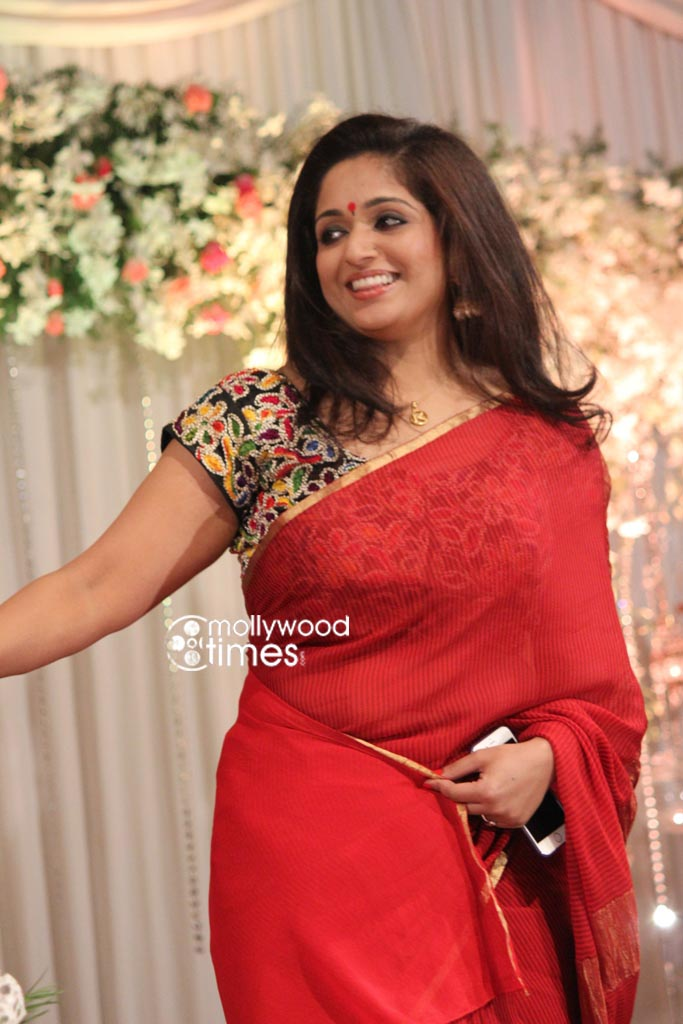 Actress Kavya Madhavan At Actress Muktha Wedding Reception