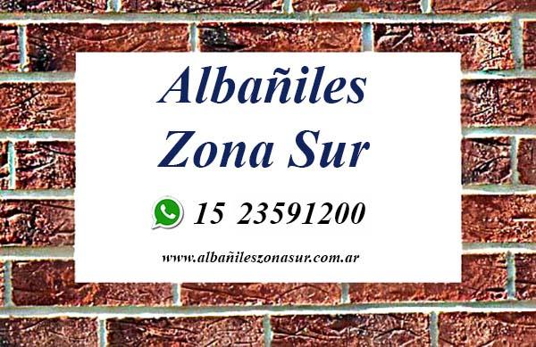 Albañiles Zona Sur: Servicios de Albañilería en General. Solicite su Presupuesto sin cargo al 15 23591200.