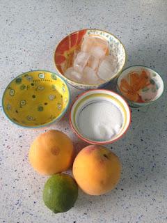 Ingredientes daiquiri de melocotón