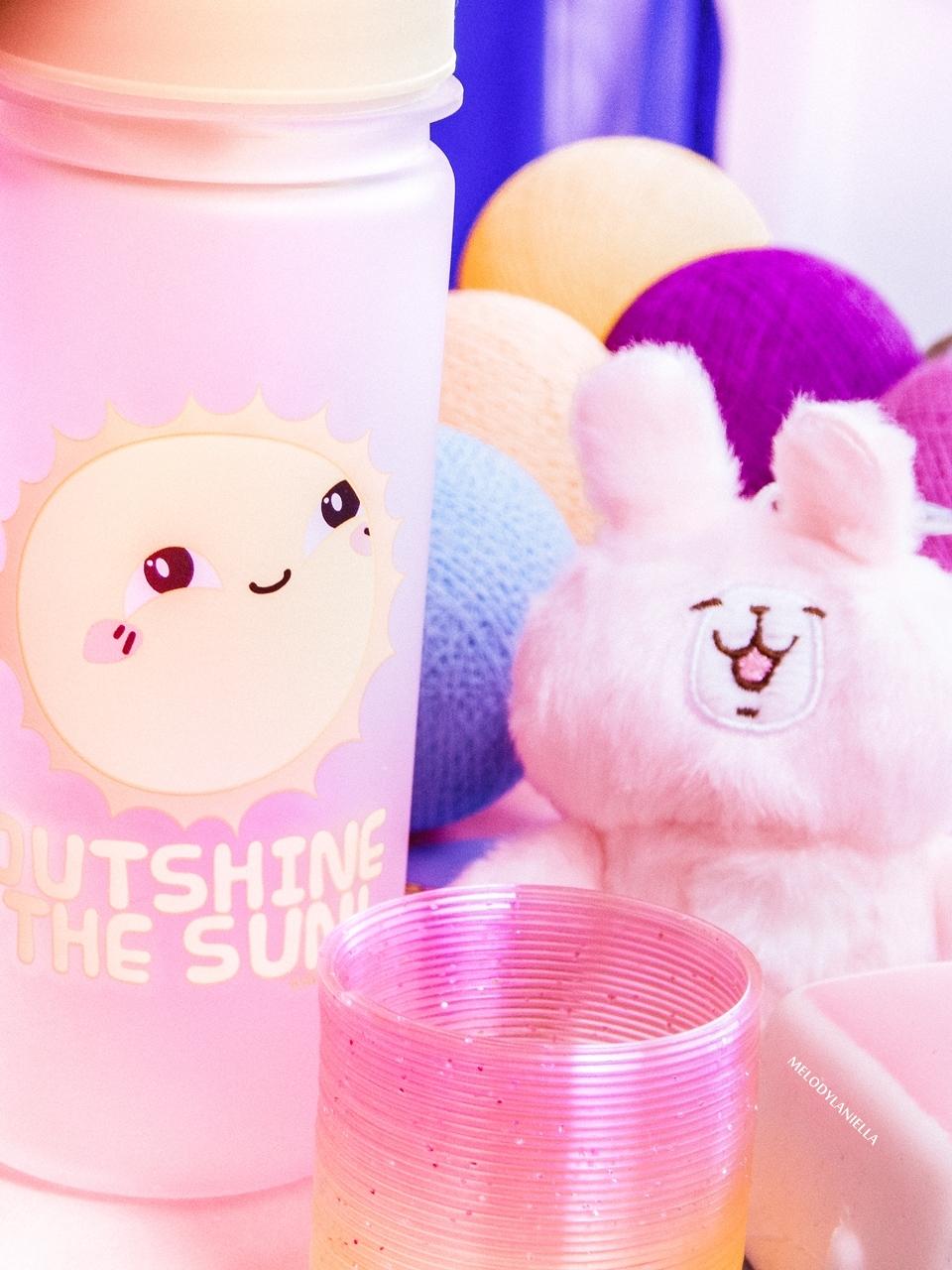 6 kawaii box august sierpień rewiev recenzja giveaway konkurs rozdanie gadżety z japonii kolorowe dodatki słodycze z japonii fajne długopisy, butelka na wodę my melody melodylaniella pudding tofu brelok