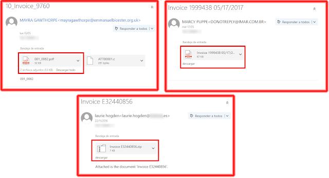 Tipos de mensaje de correo electrónico de Ransomware. WannaCry.