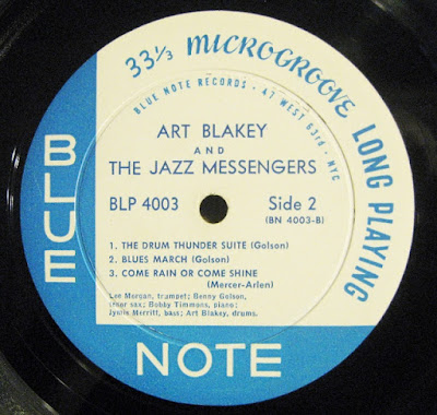 "Art Blakey Blue Note 4003 label without the trademark ""R"""