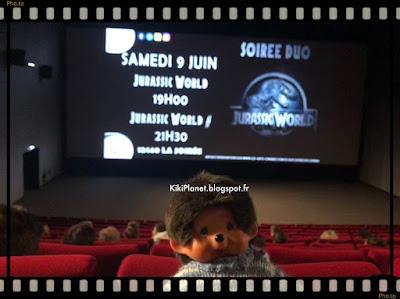 monchhichi kiki cinéma film jurassic park jurassic world chris pratt
