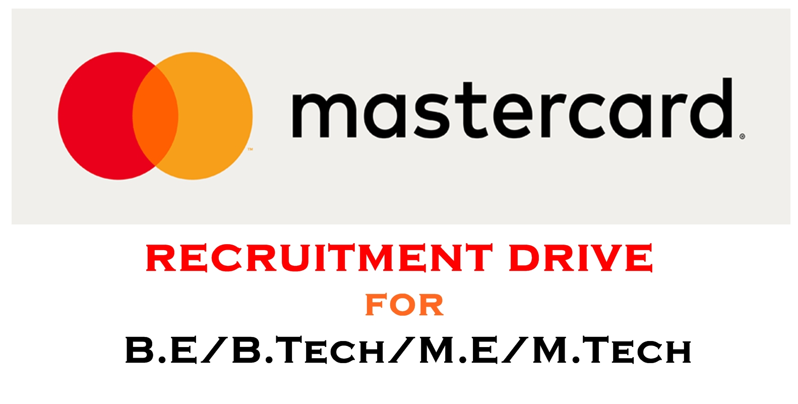 Mastercard Recruitment 2017 Engineer Trainee Software Engg Pune