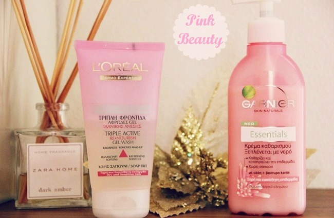 Pink Beauty Garnier & L'Oreal cleansers