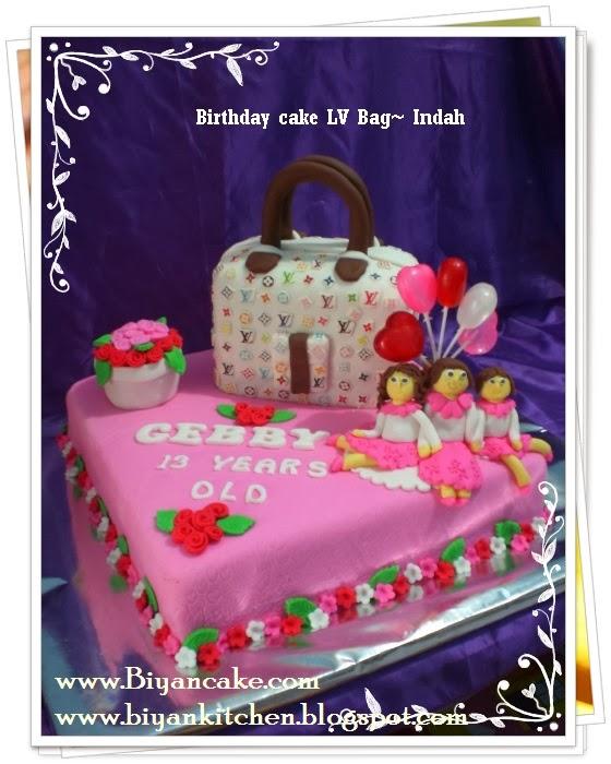 BIyanCakes: Psan Kue Tart Unik Di Bekasi : Kue Tart LV Bag