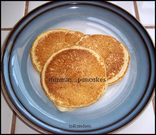 making organic pancakes
