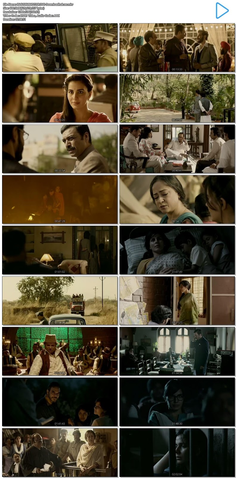 Indu Sarkar 2017 Hindi 720p HEVC HDRip