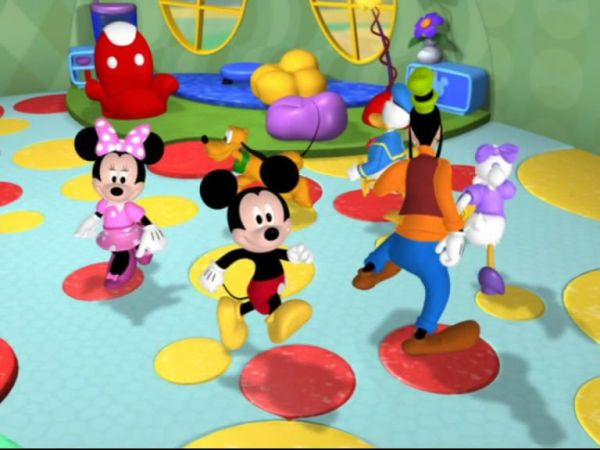 we have some special guests for you today: it's the Mickey Mouse Clubhouse singers