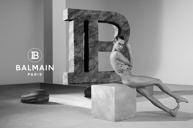 Cara Delevingne Strips Down for Balmain s 2019 Spring-Summer Campaign