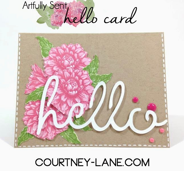 Close To My Heart Artfully Sent Floral Hello card
