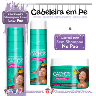 Shampoo (Low Poo), Condicionador (No Poo) e Máscara (No Poo) Cachos Supremos - Hair Fly
