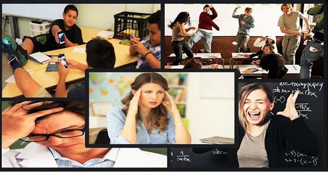 Turmas mal comportadas tem levado professores a níveis alarmantes de estresse, exaustão emocional, depressão, cansaço crônico e frustração