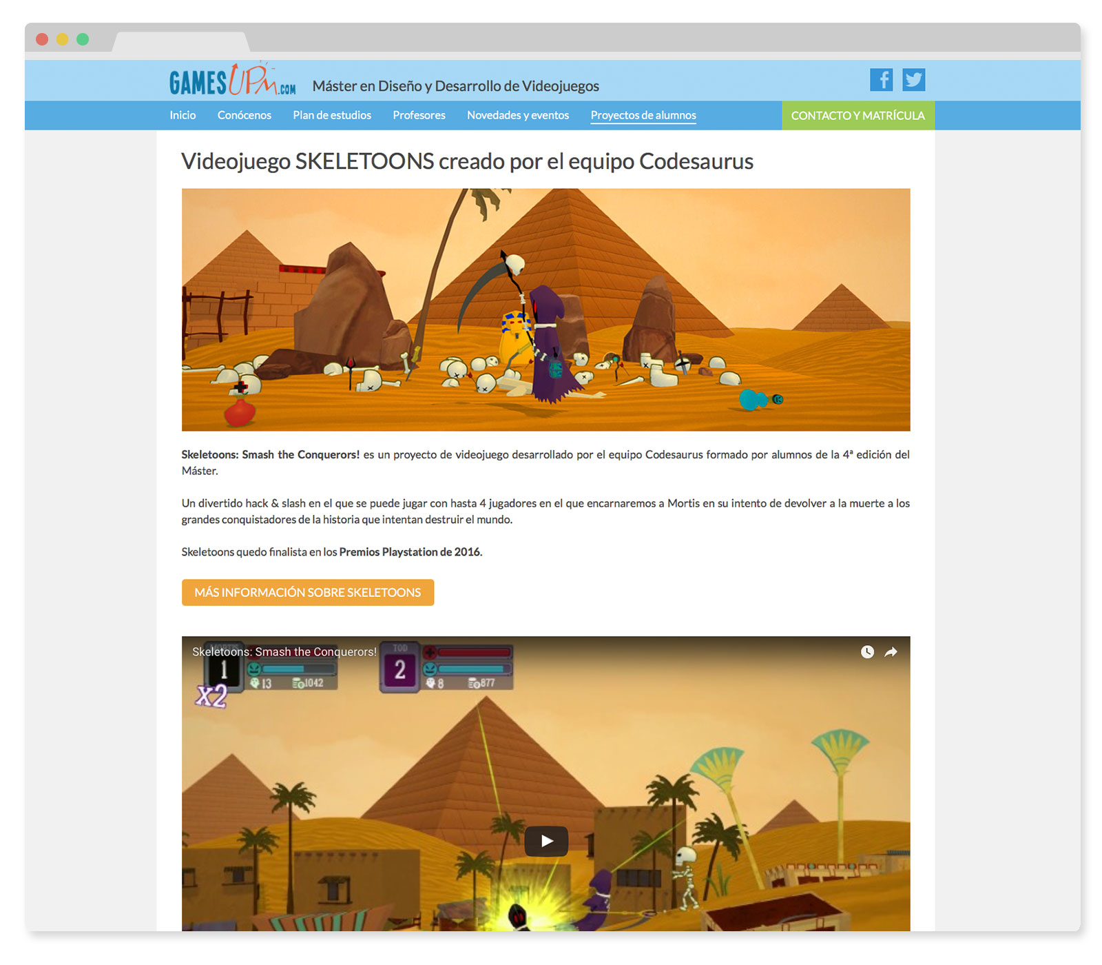 Proyectos alumnos Master Videojuegos GamesUPM