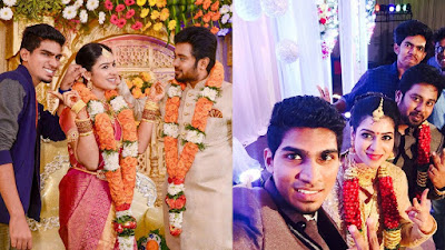 Actress Satna Titus wedding photos