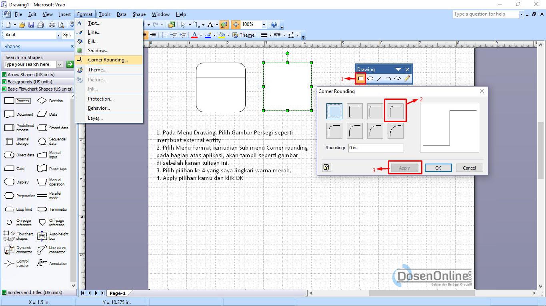 Cara mudah membuat dad atau dfd dengan visio 2007 belajar dan cara mudah membuat proses dfd dengan visio ccuart Choice Image
