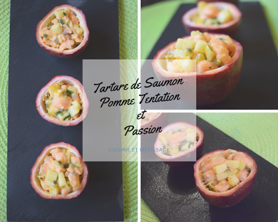 tartare saumon pomme passion