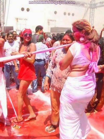 Holi Adult sexy naughty dirty Hot wet party girls woman's images picture Wallpaper