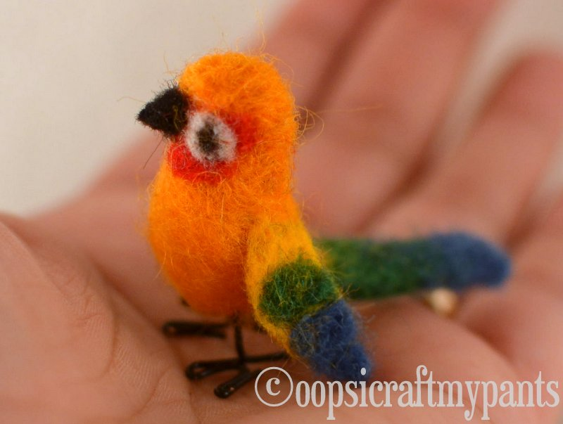 Oops I Craft My Pants Felted Sun Conure