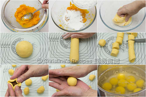 南瓜湯圓配紫薯製作圖 How To Make Pumpkin Glutinous Dumplings