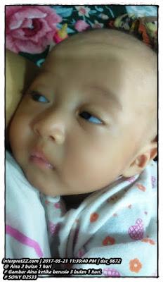 gambar bayi perempuan berumur 3 bulan 1 hari