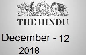 The Hindu Newspaper Today 12 December 2018 Download PDF