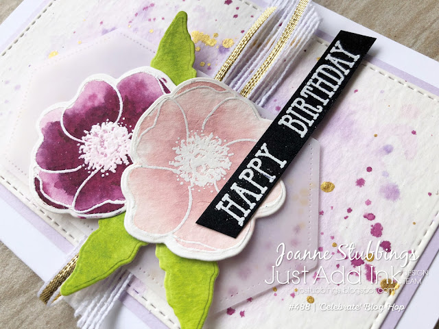 Jo's Stamping Spot - Juat Add Ink Challenge #488 using Painted Poppies and Well Said bundles by Stampin' Up!