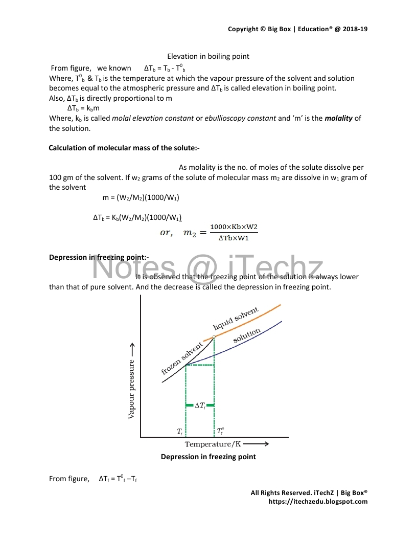 CBSE Class 12 Chemistry Chapter 2 - Solution Revision Notes