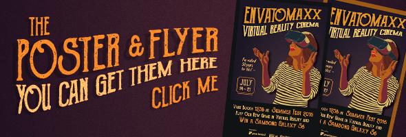 Vintage Virtual Reality Cinema Invitation and Ticket