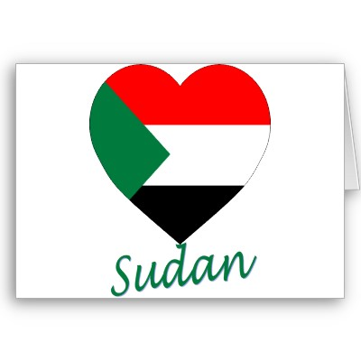 صور علم السودان على شكل قلب