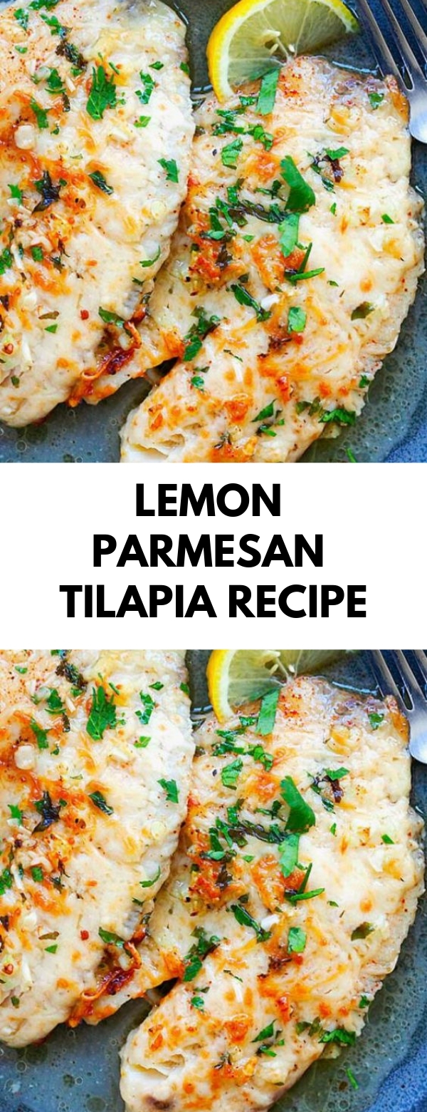 Lemon Parmesan Tilapia Recipe #lowcarb #dinner #parmesan