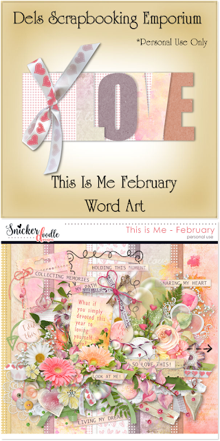 This Is Me February Word Art