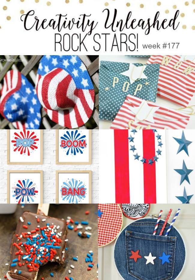 4th of July Rock Stars at Creativity Unleashed #178 link party at MyLove2Create