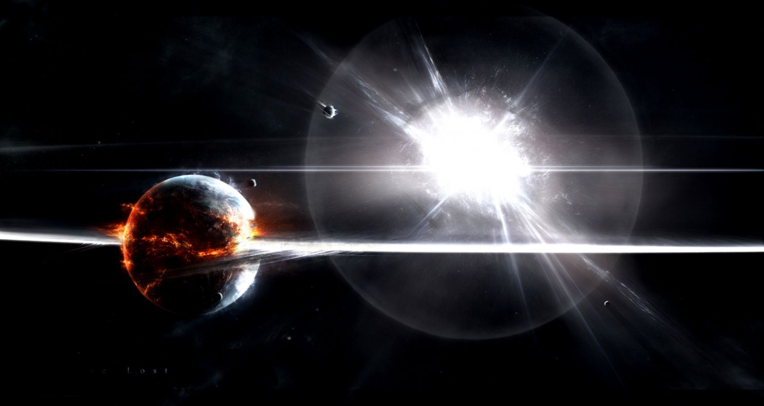 Space 3D Supernova Scene Hd Wallpaper | Wallpaper Gallery