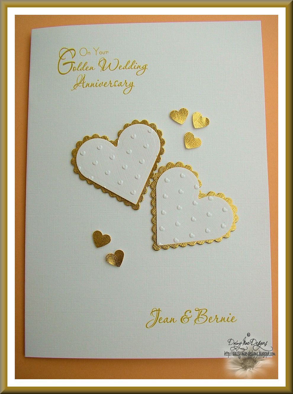 Daizy-Mae's-Crafty blog: Golden Wedding Anniversary card