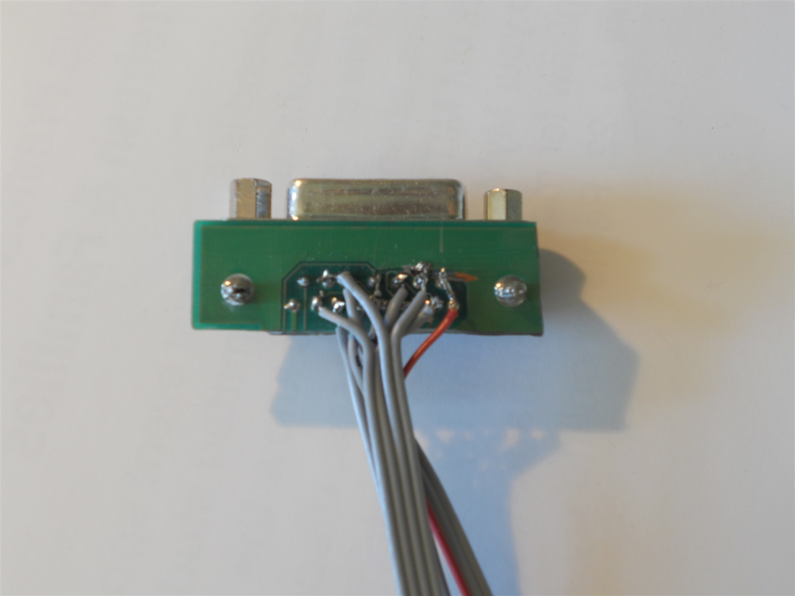 In the picture below, the top three header pins are the 5V and ground  connections (red is 5V). The middle four are the analog connections, and  the bottom ...