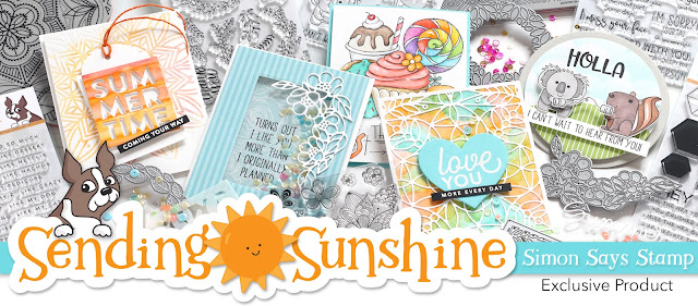 Sending Sunshine Card for Simon Says Stamp Sending Sunshine Release
